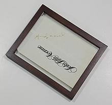 Andy Warhol, signed Saks Fifth Avenue bag, with notarized statement of authenticity, circa 1984