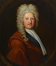 British School (17th Century), oil on canvas, Portrait of Man, 29 1/2