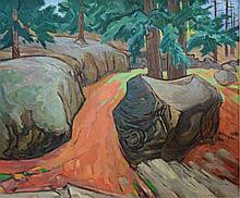 G Ralph Smith (American, PA, 1907-2007), oil on masonite,