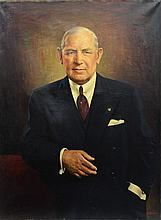C J Fox , oil on canvas, Portrait of Hobart C Ramsey, CEO of the Worthington Company (1891-1981), signed lower right, 39 1/2