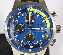 International Watch Company Aquatimer Chronograph men's wristwatch, Ref 3782, tribute to Calypso, 1346/2500, serial number 3422769, ..