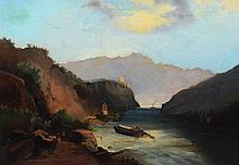 Continental School (19th Century), oil on canvas, 18 1/2
