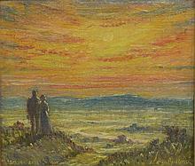 William Bradford Green (American, 1871-1945), oil on board,