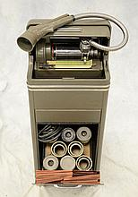 Thomas A Edison Ediphone Voicewriter with 5 cylinder, grey steel case, 13