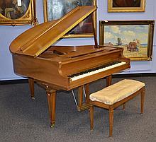 Kimball Walnut baby grand piano, model 5102, SN B34134, synthetic keys