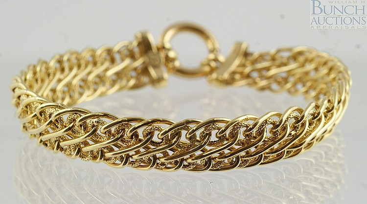 18K YG bracelet, Milor, Italy, 7 1/2