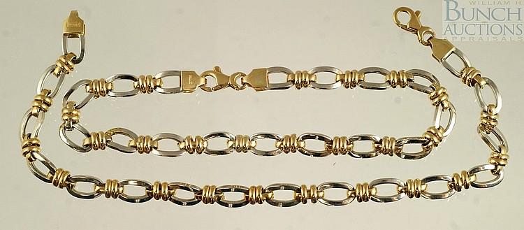 (2) 14K Y&WG bracelets, 7 1/4