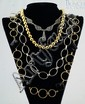 (4) sterling silver necklaces, 2 w/gilt finish, set w/clear & other stones, longest 34