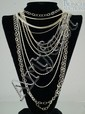 (6) sterling silver necklaces/chains, 5.03 TO