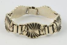Walter Meyer for Georg Jensen USA sterling silver panel bracelet, 7