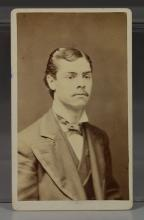 Robert Todd Lincoln carte de visite from C G Hill Photographic Studio, Cochituate, Mass