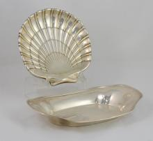 Wallace sterling silver shell bowl, 8