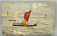 Italian School (20th Century), oil on board, Gailoa di Napoli, 6
