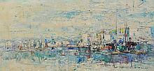 Antonio (20th Century), acrylic on canvas, Boats, signed lower right, 11 1/2