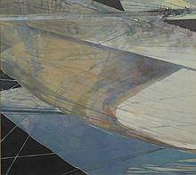 Steven Janney (American, active PA), acrylic on canvas, Abstract, signed and dated 1989 upper left, 36