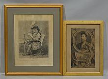 (2) 18th Century Etchings: J K Sherwin, After William Hogarth (British, 1697-1764),