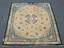 Center Medallion Chinese Carpet, worn, 10' x 11'5