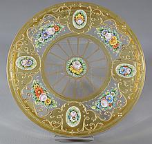 Continental Enameled and Gilt Round Covered Crystal Box, 7-1/2