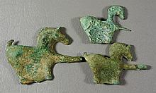 (3) Small bronze horses, largest 3