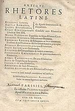ANTIQUI RHETORES LATINI. Ex Bibl. F. Pithoei. Index in omnes superiores aut