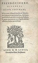 CICERO -- (ESTIENNE), H. Pseudocicero, dialogus. (Geneva), H. (Stephanus) E