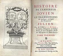 ® LA BLETERIE, (J.Ph.R. de). Histoire de l'Empereur Jovien et traductions d