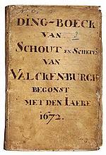 VALKENBURG (ZH) -- DING-BOECK van Schout en Schepen(en) van Valcken-burgh b
