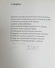 STICHTING DE ROOS, UTRECHT -- ACHTERBERG, G. Dertig verzen. 1968. 52, (4) pp. W. 8 fine full-p. etch