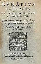 EUNAPIUS SARDIANUS. De vitis philosophorum et soph