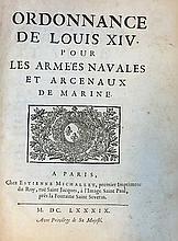 MARITIME LAW -- ORDONNANCE de Louis XIV pour les a