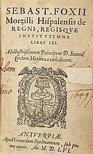 FOXIUS MORZILLUS, S. De regni, regisque institutio