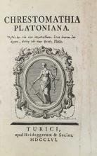 PLATO. Chrestomathia Platoniana. (Ed. F.C. Muller)