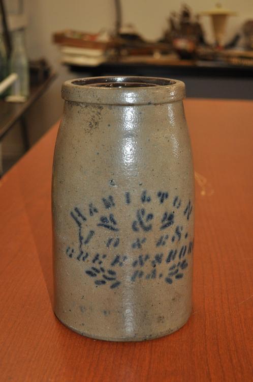 Stoneware Jar – Hamilton & Jones. Greensboro, Pa.