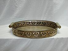 Large Silver Plated Oval Tray.