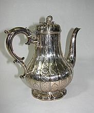 British Victorian Plated Coffee Pot.