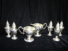 7 Pieces American Sterling Silver, Weighted.