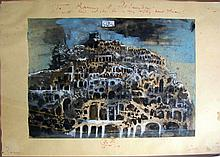 Drawing, View of Rome by Eugene Berman, 1957.