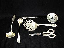 Five Sterling Silver Serving Flatware.