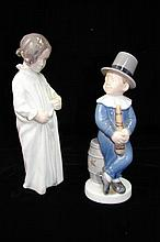 Two Porcelain Figurines, Royal Copenhagen, B & G.