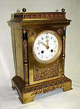 Bronze Case Shelf Clock Made for Tiffany & Co.