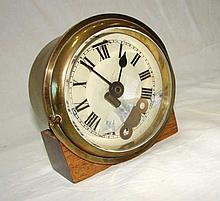 Brass Ships Bell Clock, with Key