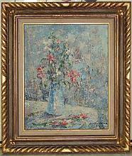 Leo Villafana Oil Painting - Floral Still Life, 60