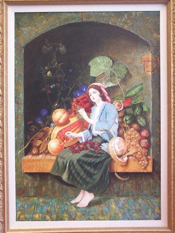Oil Painting, Enrique Toledo, Surrealist, 2003.