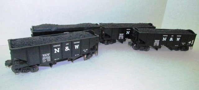 Four N&W Coal Hauler Cars