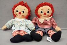Pair of 1960's Raggedy Ann Dolls