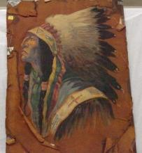 Hand Painted Indian Chief
