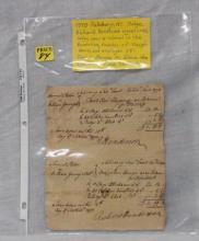 1770 signed Letter from Judge Richard Henderson