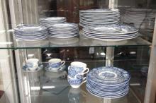 Set of Liberty Blue Staffordshire Ironstone Dishes