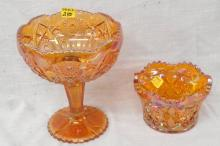 Two Carnival Candy Dishes