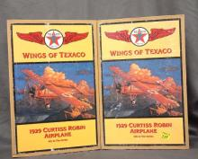 Two 1929 Robin Airplanes - sold as advertisement of Texaco Gas Company - 6th in series